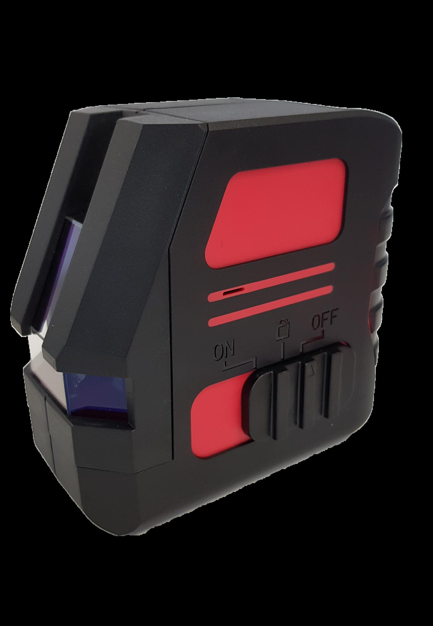 OMTools LP104 Rode kruislijnlaser met magnetische wandklem in foudraal