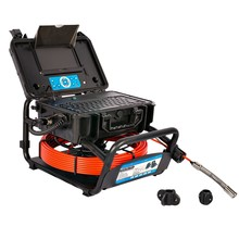OMTools Sewer inspection camera with 35 meter Ø6.8mm  cable and 23 Ømm  self-leveling camera head