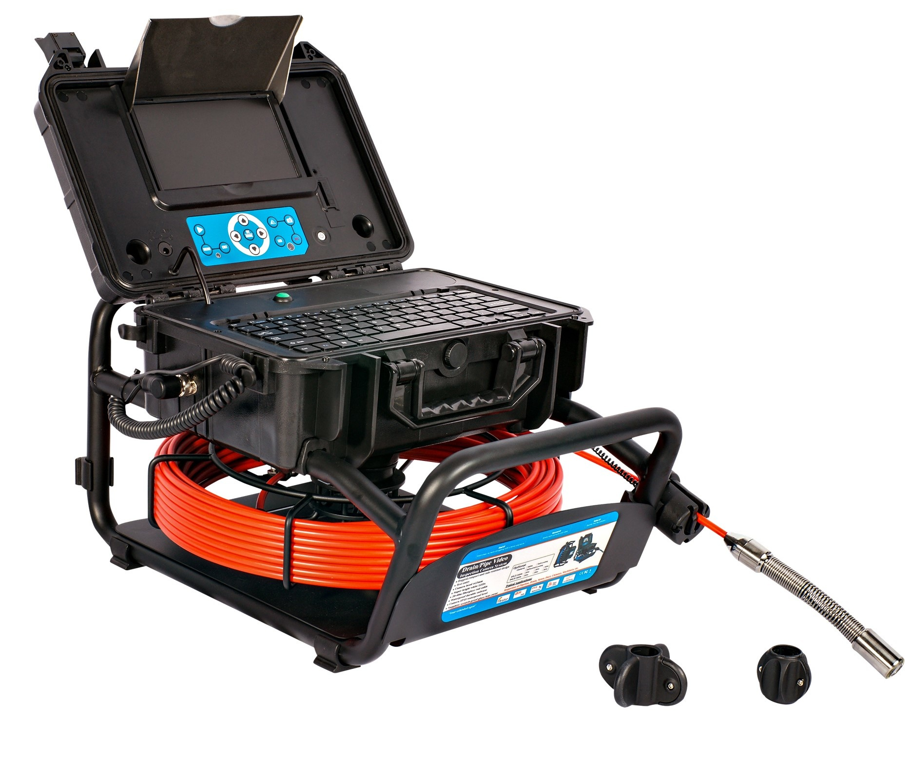 OMTools Sewer inspection camera with 35 meter cable and self-leveling  23 Ømm camera head