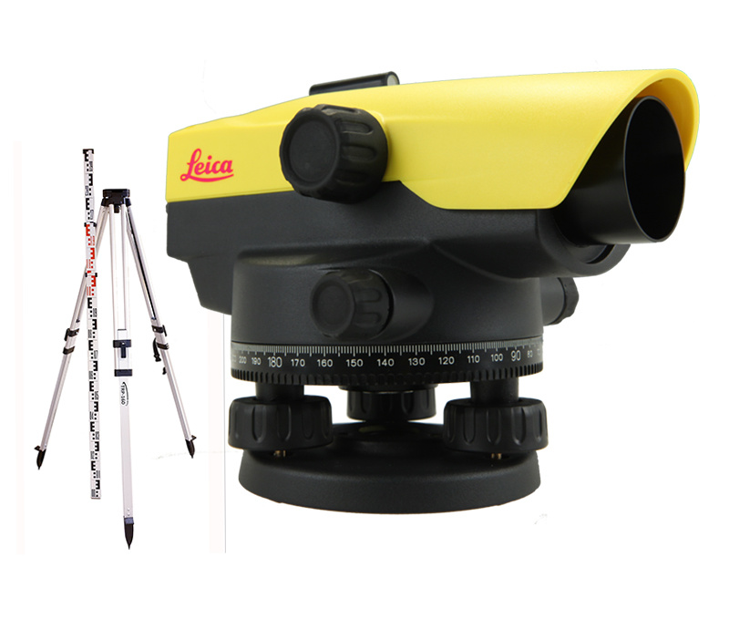 Leica  NA524 Leveling instrument incl. spirit level stand 3 m and tripod