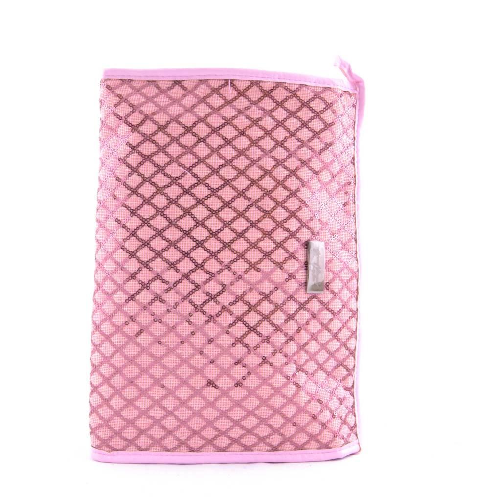 Toilettas Ruit Glitter Roze