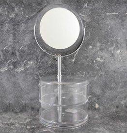 Make-up Spiegel (3xVergroting) met acryl bakjes