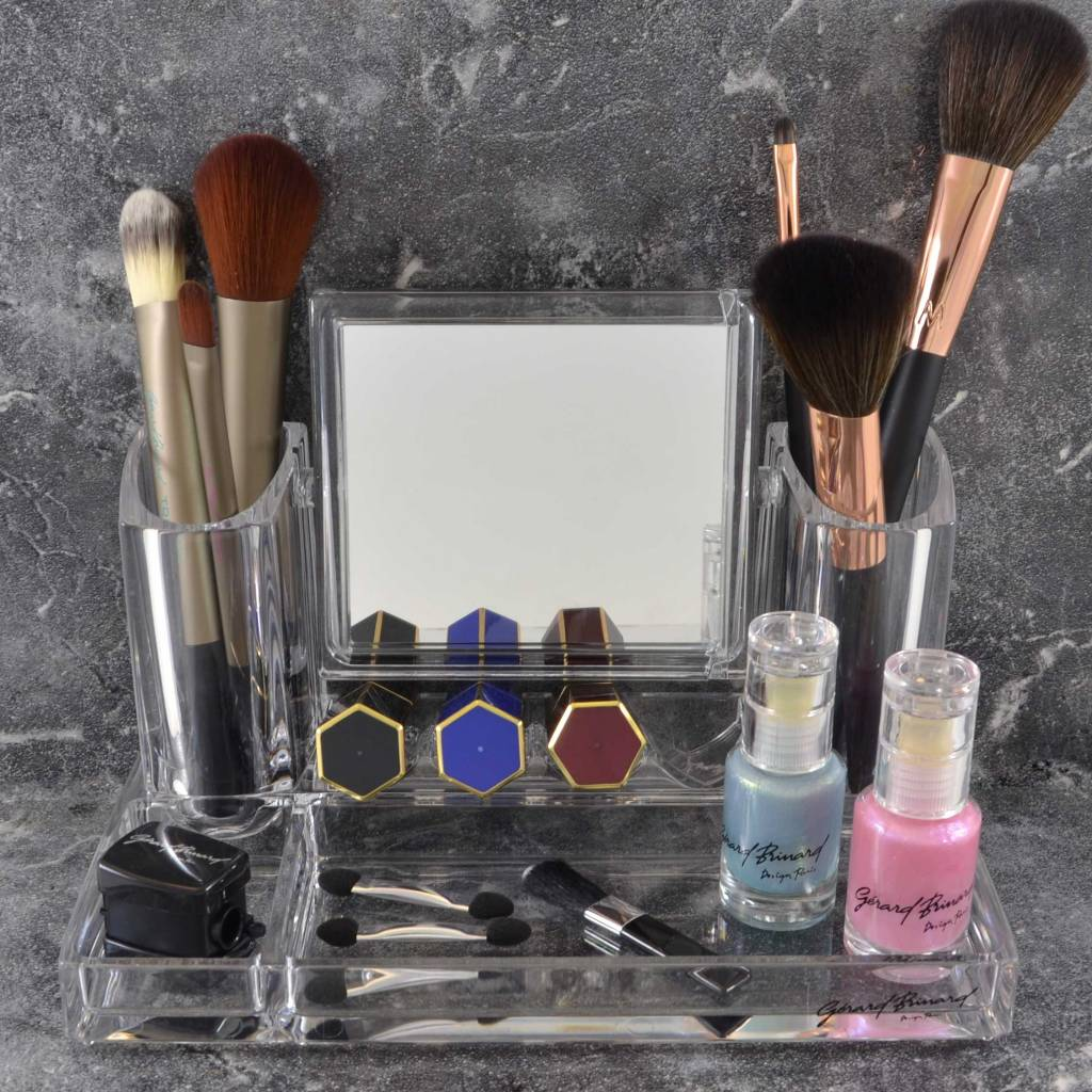 Acryl organizer met Make-up spiegel