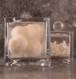 Oortip en wattenhouder acryl