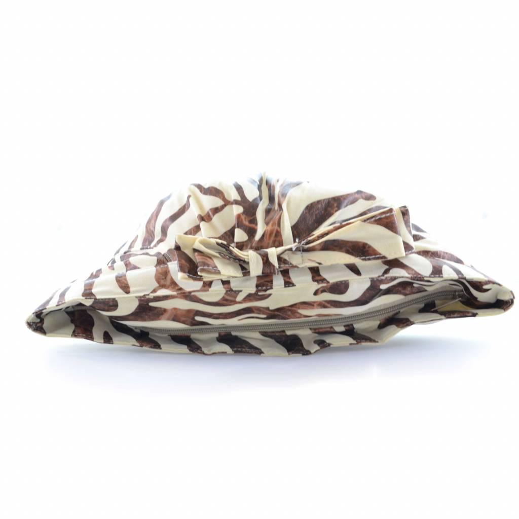 Luxe Toilettas zebra print bruin/beige (lichte kleur)