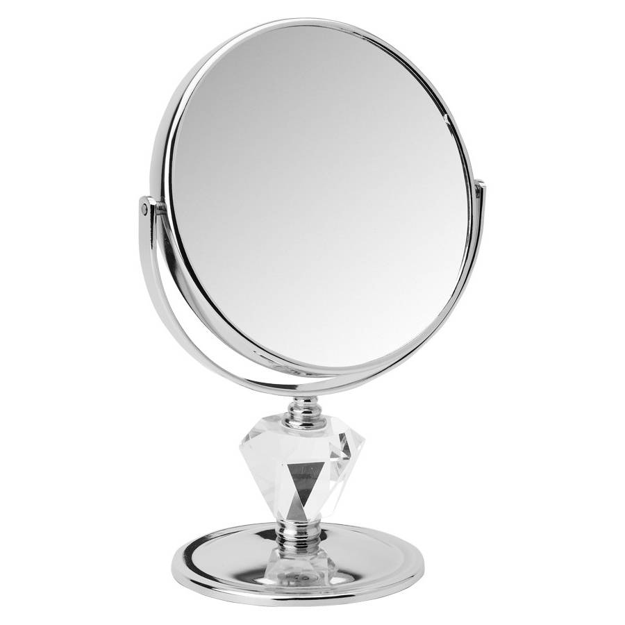Make-up Spiegels 'diamant' Ø15cm 5x/7x/10x Vergroting