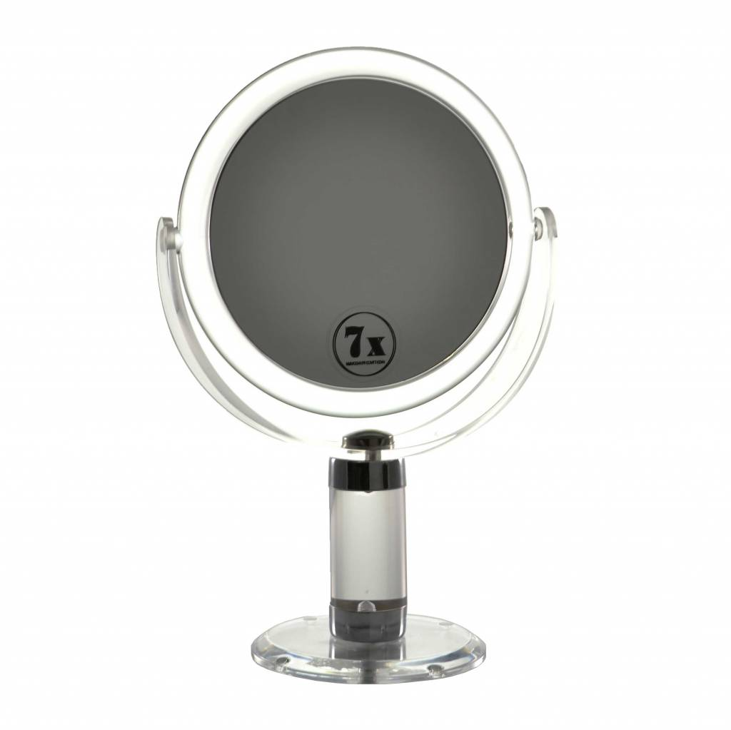 Make-up Spiegel acryl Middel 7x Vergroting | Badkamer Spiegel Ø14cm