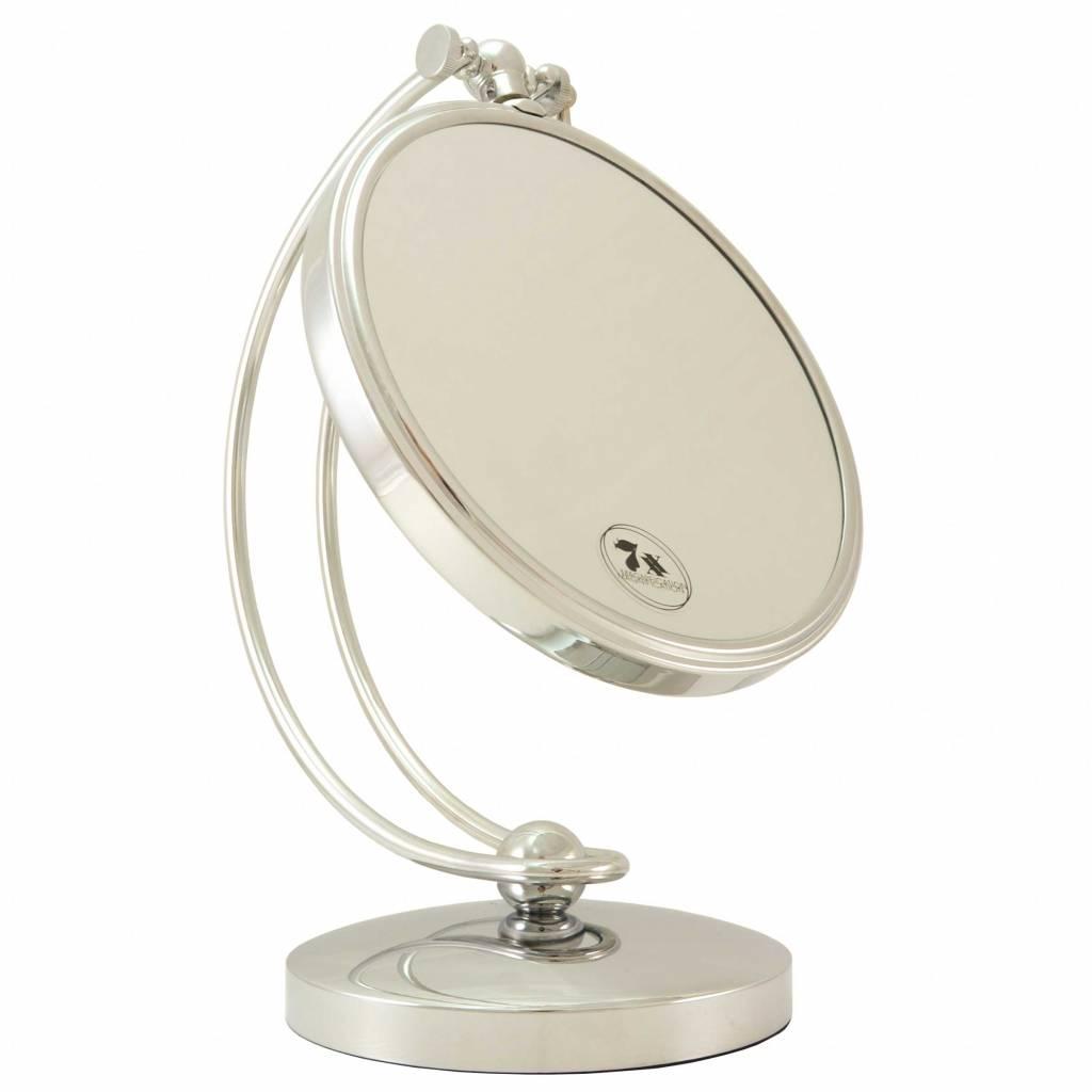 Grote Make-up Spiegel zilver Ø20cm/7x vergroting