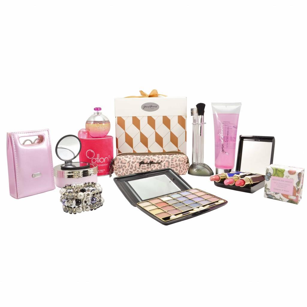 Dames cadeaupakket Goud/Witte verpakking kerst pakket