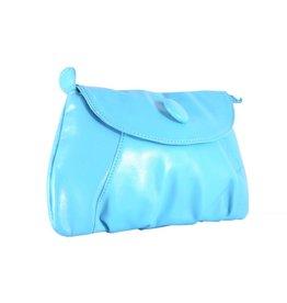 Make-up tas met knoop Blauw