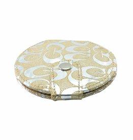 Make-up Tasspiegel metallic goud