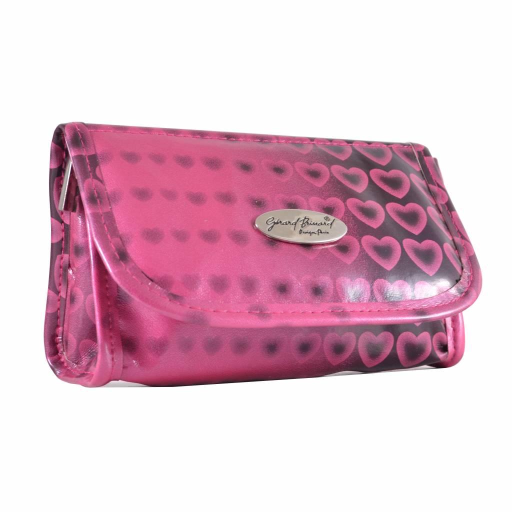 Spiegeltasje roze hartjes print, reizen, vakantie, beauty, opbergen, stappen, spiegel