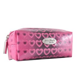 Make-up boxje roze hartjes print