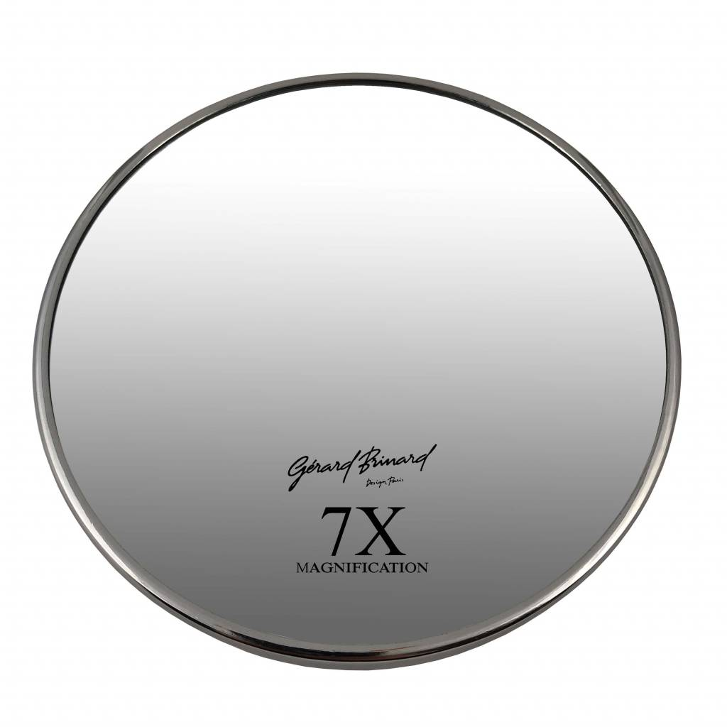 Gérard Brinard Make-up Zuignap spiegels zilver Ø16cm 5x/7x/10x Vergroting