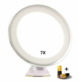 Zuignap Spiegel LED 7x vergroting | Badkamer Spiegel