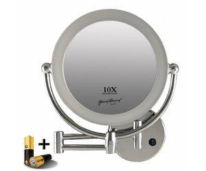 Vergrotende Spiegel Badkamer : Metalen wand led spiegel vergroting cm doorsnee inculsief