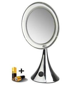 LED Make-up spiegel Ø20cm/5x vergroting incl. batterij
