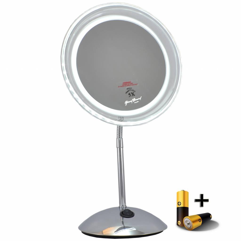LED Make-up spiegel Ø20cm/5x vergroting incl. batterij en adapter