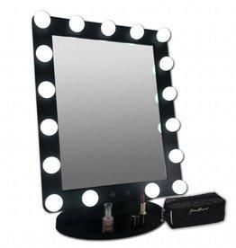 Grote Hollywood LED Make-up Spiegel Zwart