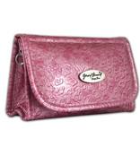 Spiegel tasje, voelbare print roze