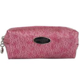 Make-up boxje, voelbare print roze