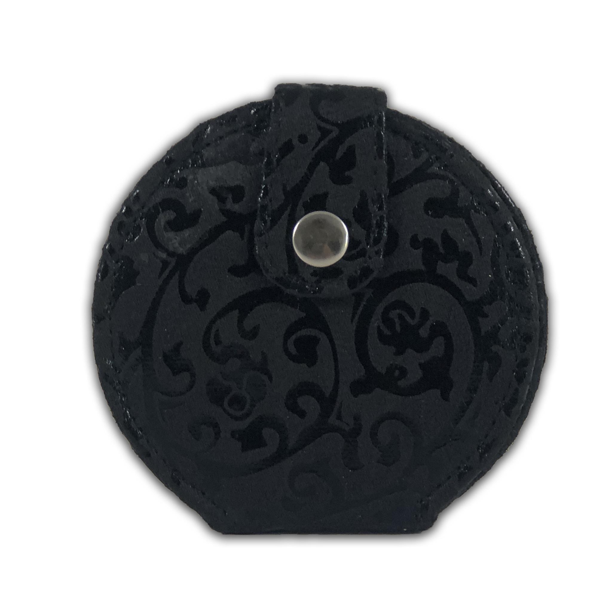 Tasspiegeltje Barrok Zwart