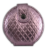 Tasspiegeltje glanzend roze met drukknoop