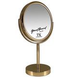 Gérard Brinard Metalen make-up spiegel goud- 7x vergroting 18cmØ