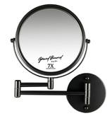 Gérard Brinard Make-up wandspiegel knikarm mat zwart - 7x vergroting 20cmØ