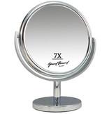 Metalen make-up spiegel groot 25CM Ø 7X vergroting