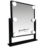 Gérard Brinard Metalen Hollywood spiegel zwart klein LED 6 bulbs