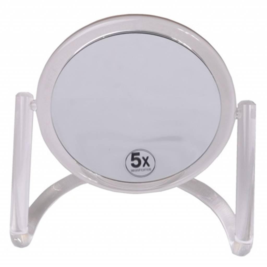 Make-up Spiegel acryl Ø15cm/5x vergroting