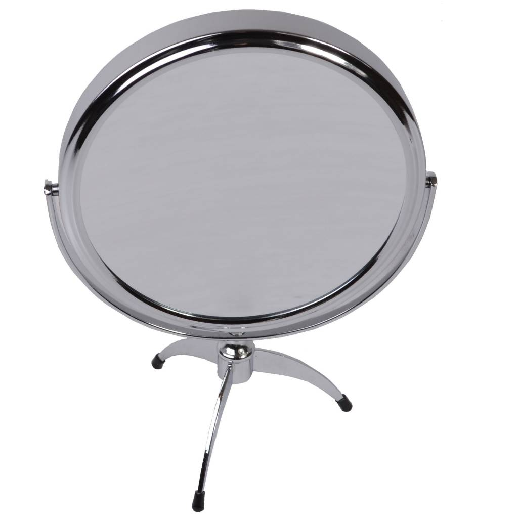 Make-up Spiegels zilver Ø14cm 5x/7x/10x vergroting/ Badkamer Spiegel