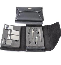 Manicure-set zwart envelope