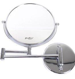 Make-up Wandspiegels knikarm zilver Ø20cm-5x/7x/10x vergroting