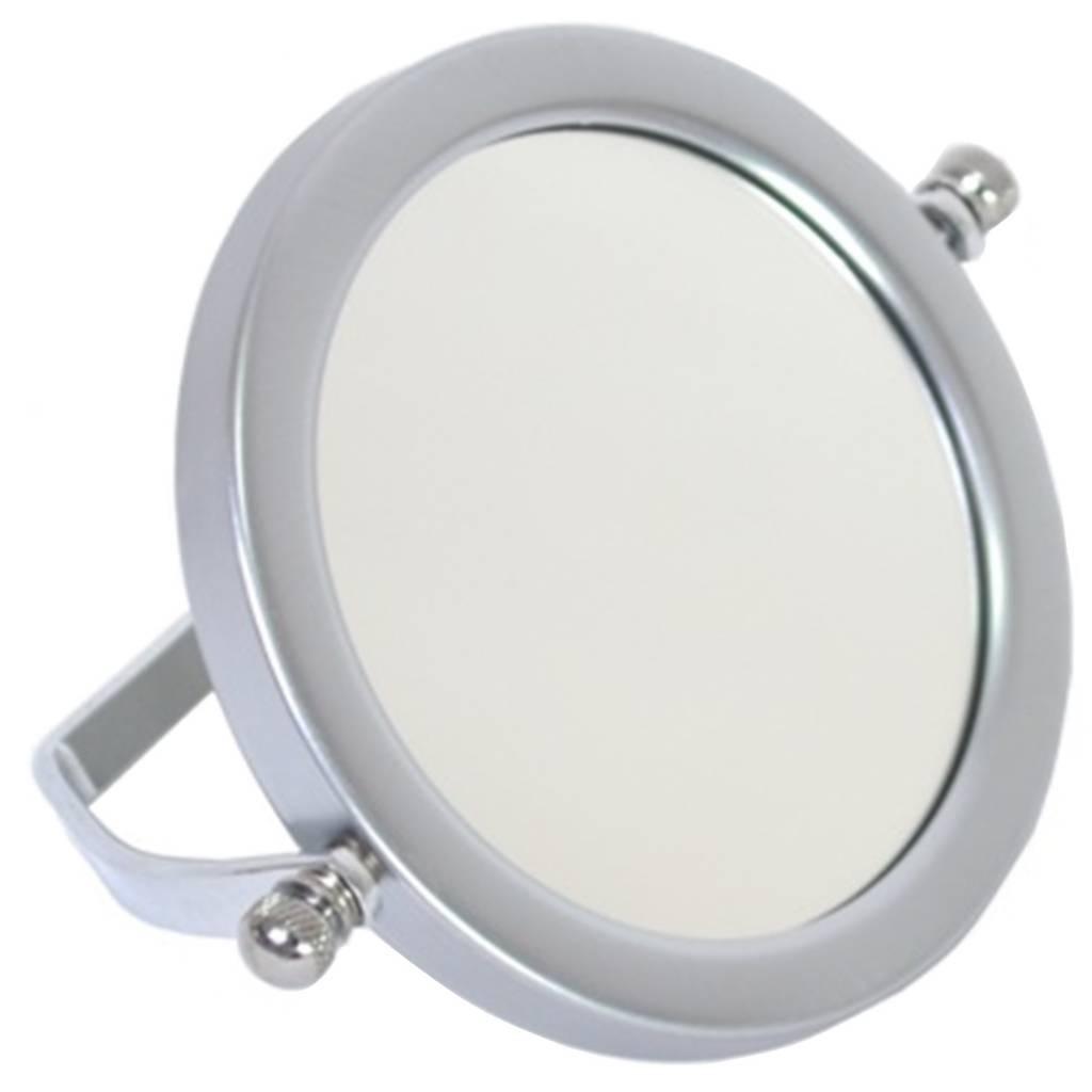 Make-up Spiegeltje Zilver Ø9cm 2x vergroting