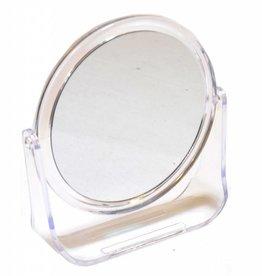 Transparante kunstof Make-up spiegel Ø12cm