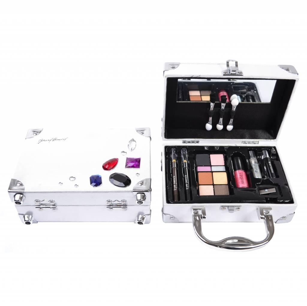 Gratis bij besteding vanaf €100 euro Make-up koffertje zilver