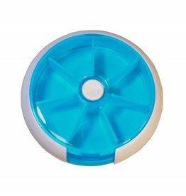 Pillenbox transparant Blauw