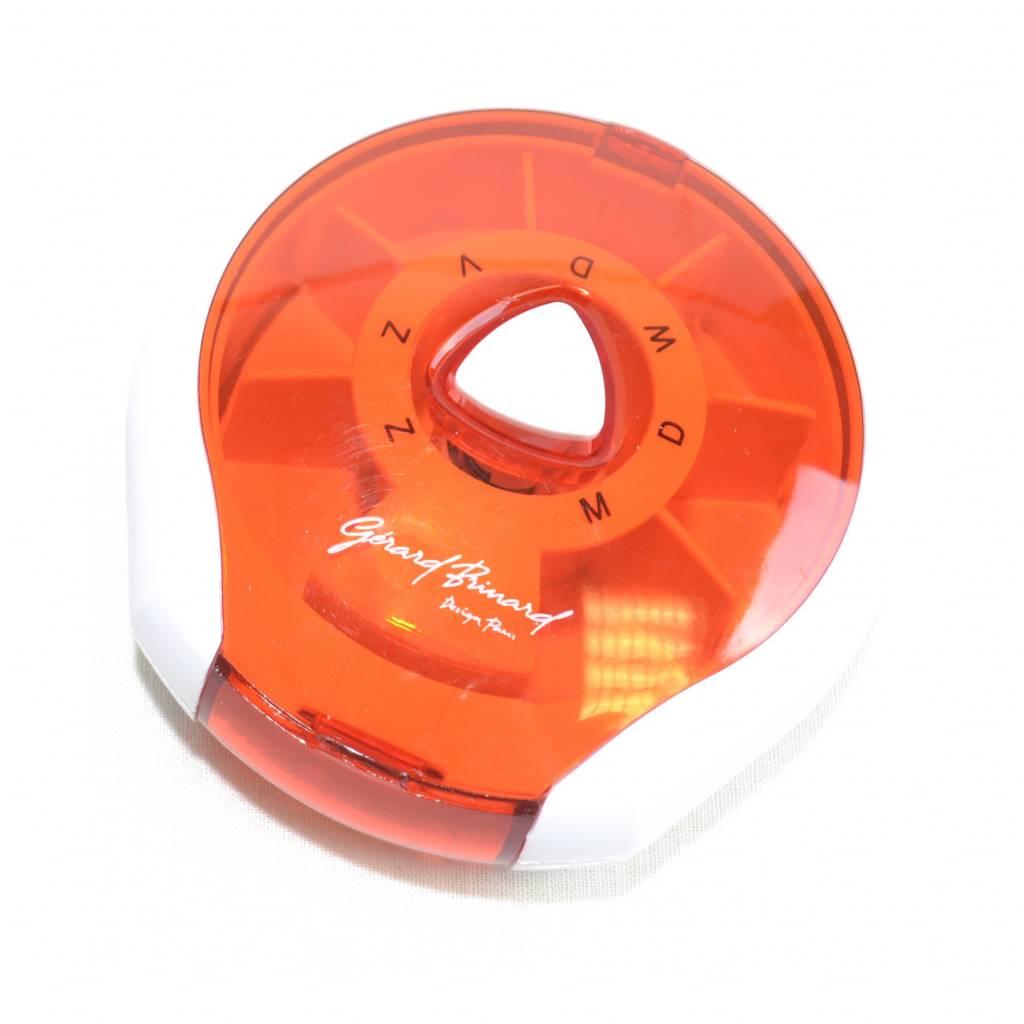 Pillenbox Zwart/Rood