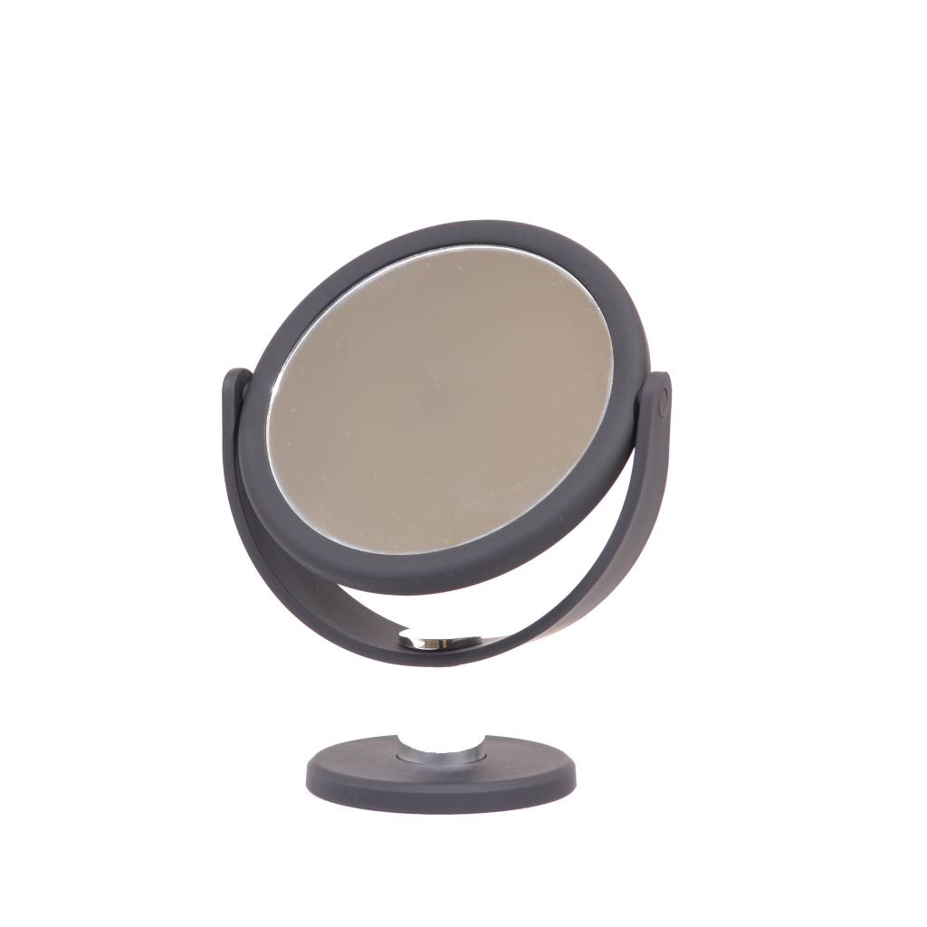 Make-up Spiegel met rubbercoating Ø10,5cm/5x vergroting