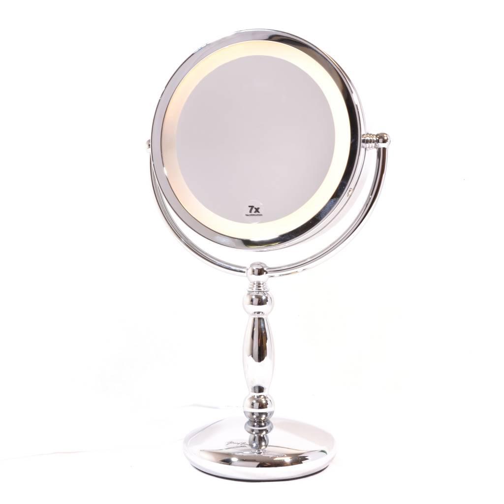Make-up Spiegel 2-zijdig verlicht Ø17cm/7x vergroting