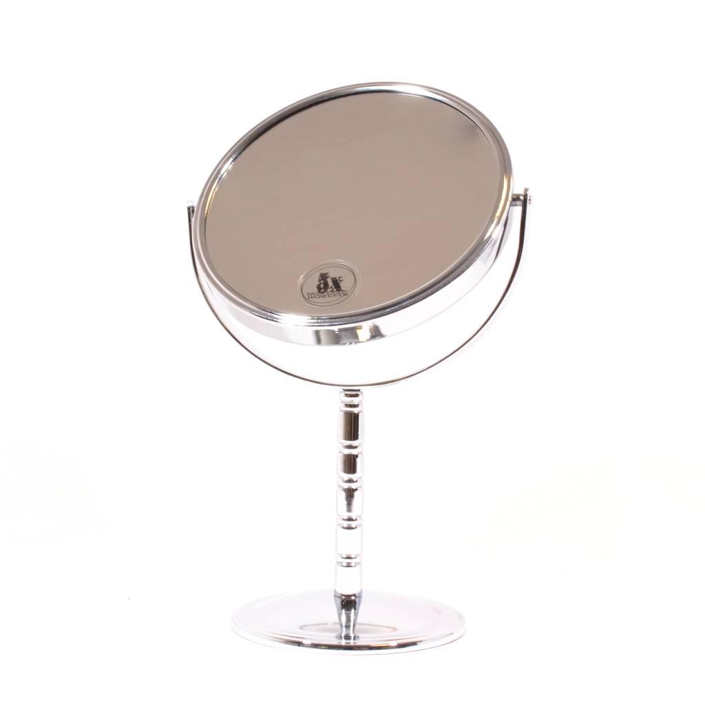 Make-up Spiegel zilver Ø14cm/5x vergroting