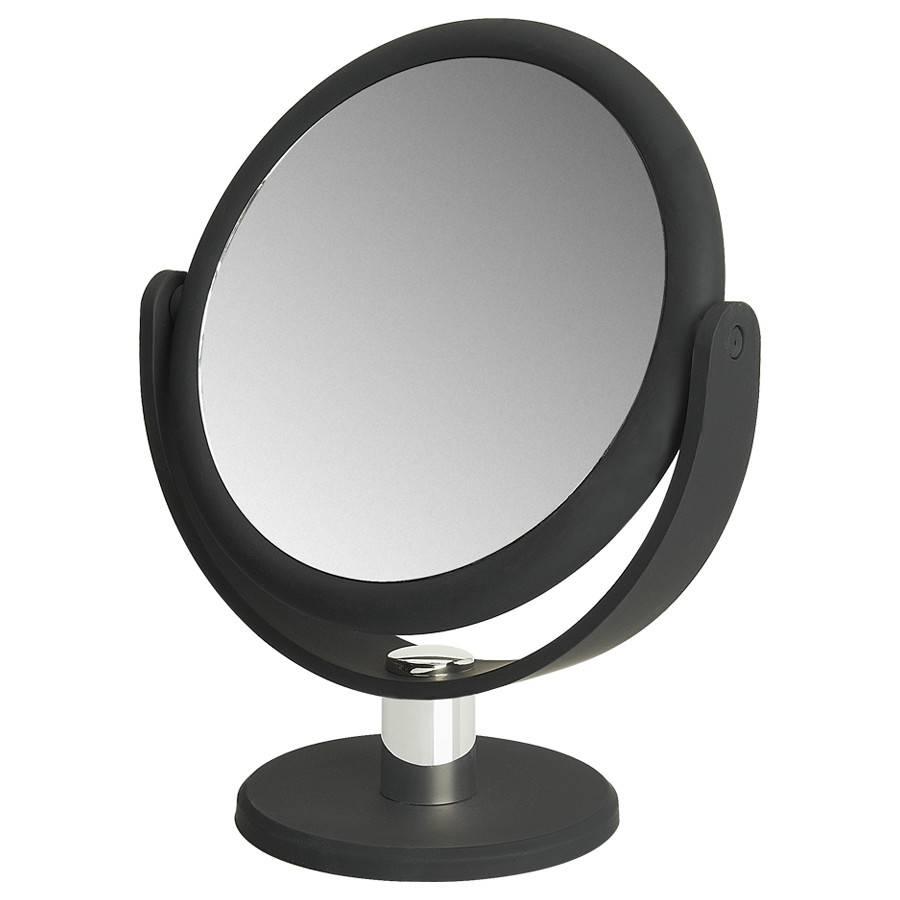 Make-up Spiegel met rubbercoating Ø14,5cm/5x vergroting