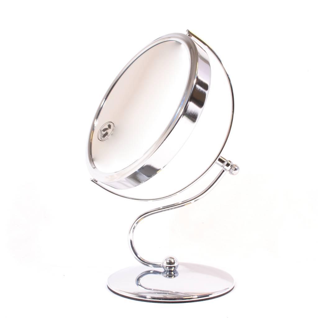 Make-up Spiegel zilver KLEIN/MIDDEL/GROOT 7X vergroting
