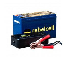 rebelcell 12V 7A accu  + 12.6V 3A oplader