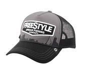 freestyle trucker cap gray front
