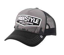 freestyle trucker cap gray front