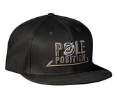 pole position flat cap black