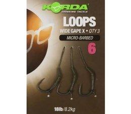 korda loop rigs df wide gape barbless